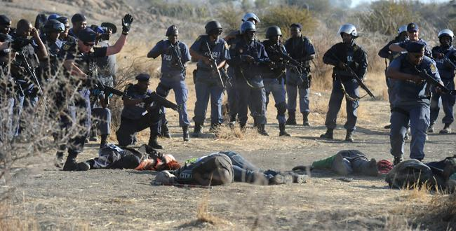 Violence in mining in africa